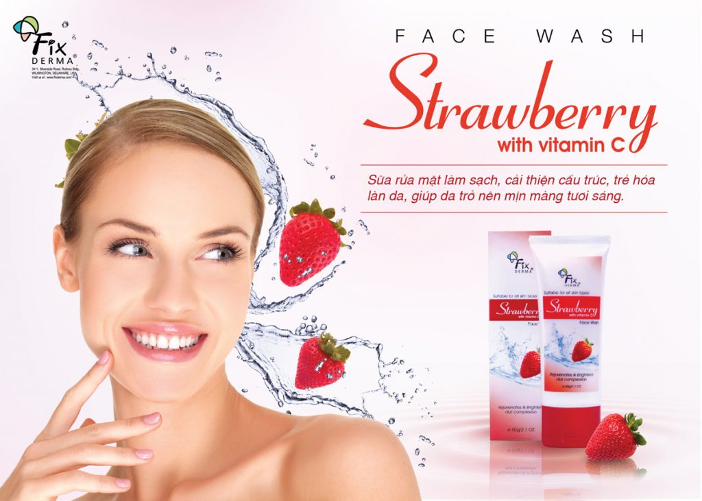 Sữa Rửa Mặt Chiết Xuất Dâu Tây Fixderma Strawberry Face Wash