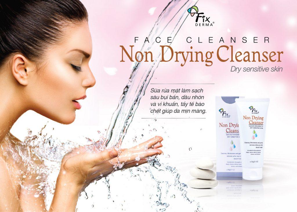Sữa Rửa Mặt Cho Da Nhạy Cảm Fixderma Non Drying Cleanser (60g)